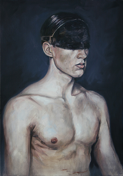 herve martijn blindfold senses holebi exhibition brussels Alberto Divittorio male figure nude